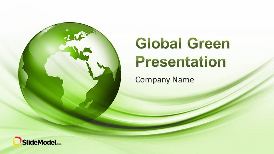 Global Green PowerPoint Template Template, Presentation design - professional business profile template