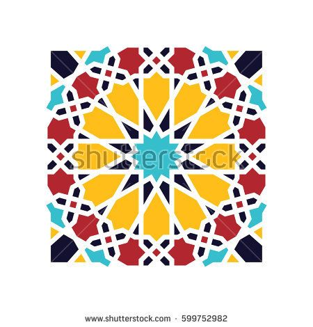 islamic geometric pattern vector 3d muslim mosaic persian motif elegant oriental ornament traditional arabic art mosque decoration element