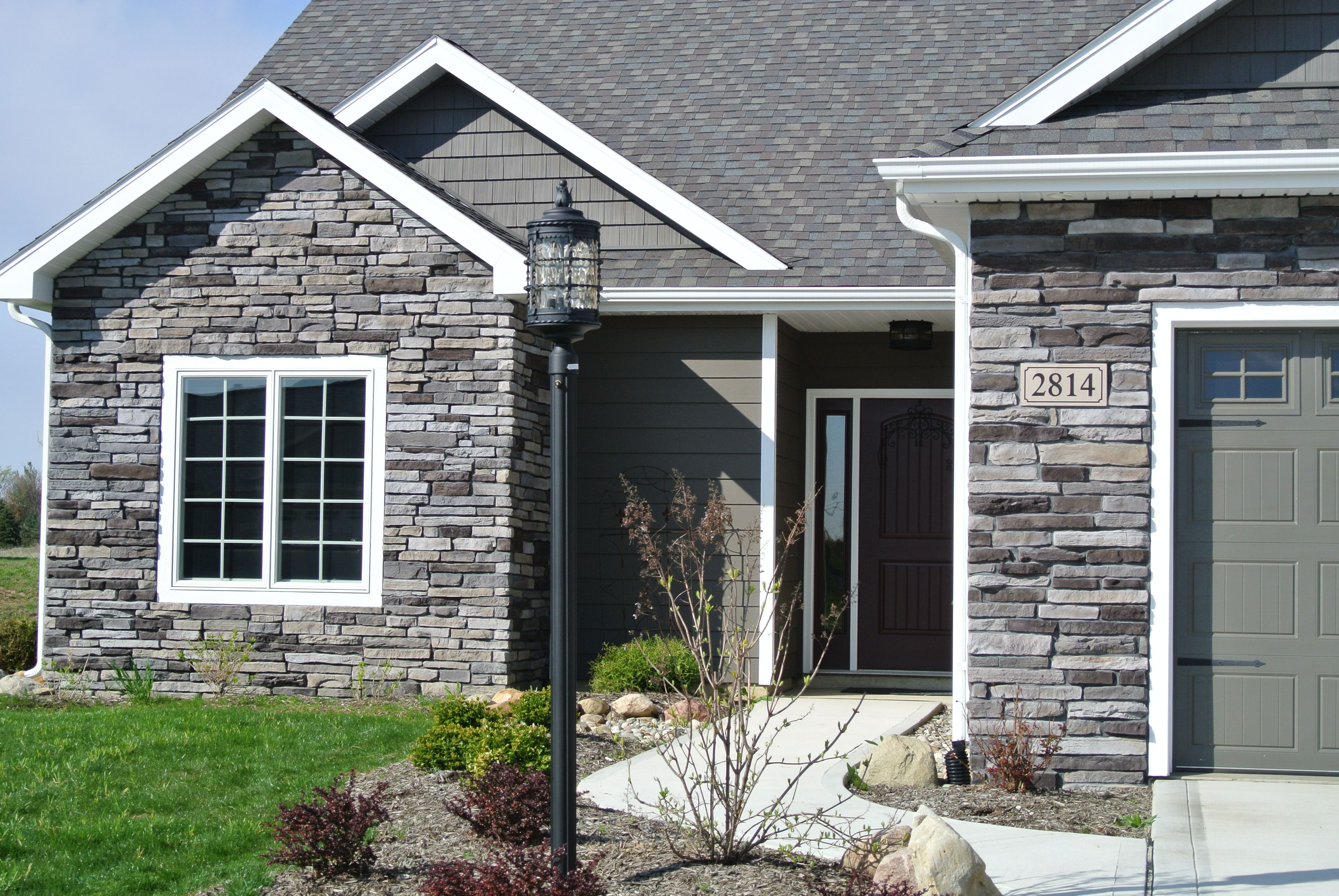 Fireplace, column and exterior house stone we picked! Stoned ...