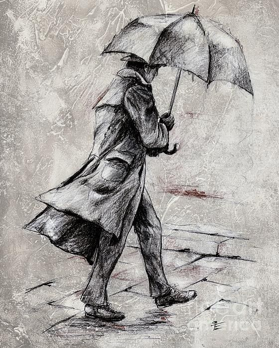 Rainy day sketch drawing by emerico