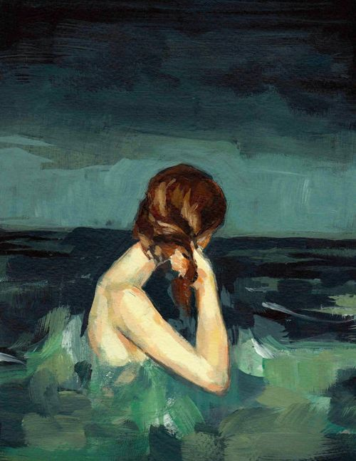 """beautiful blue. Clare Elsaesser, """"Married to the Sea"""" via Etsy: http://www.etsy.com/listing/83383628/married-to-the-sea-13-x-19-large-art?ga_search_query=sea"""
