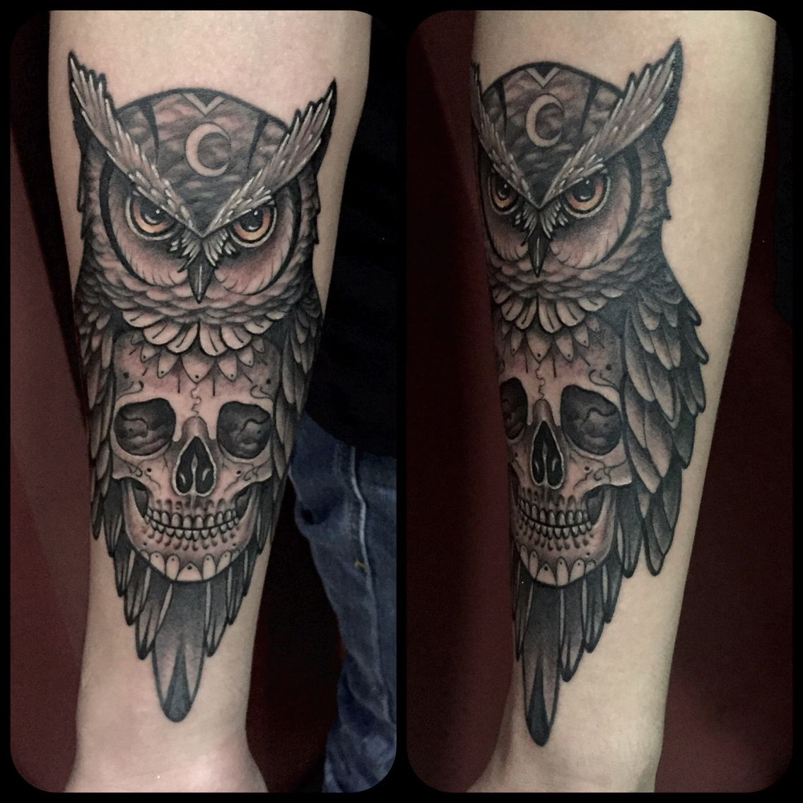 Owl Skull Tattoo By Juan David Castro R Tattoos Tattoos Owl