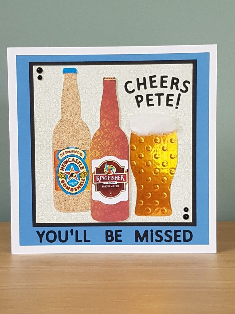 A Farewell Card For A Work Colleague Who Loves His Beer Designed By Squeakyline Cards Etsy Farewell Cards Cards Handmade Cards