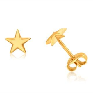 Small Star Stud Earrings in 9ct Yellow Gold image-a