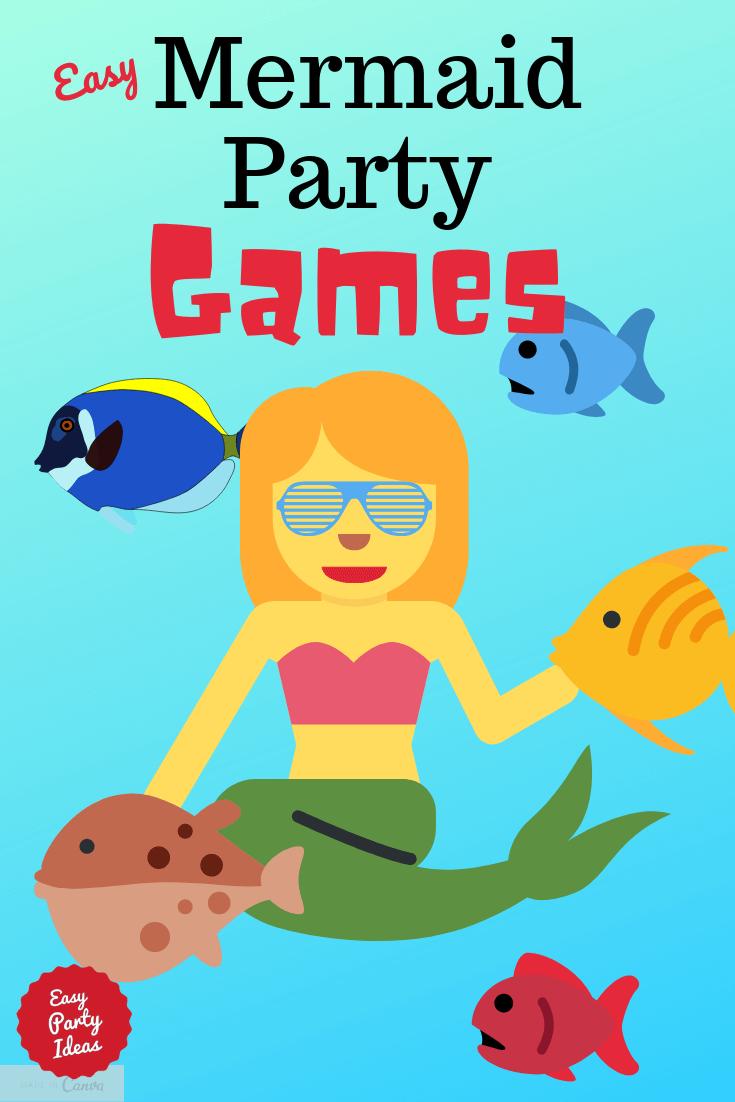 Photo of Einfache Meerjungfrau-Partyspiele