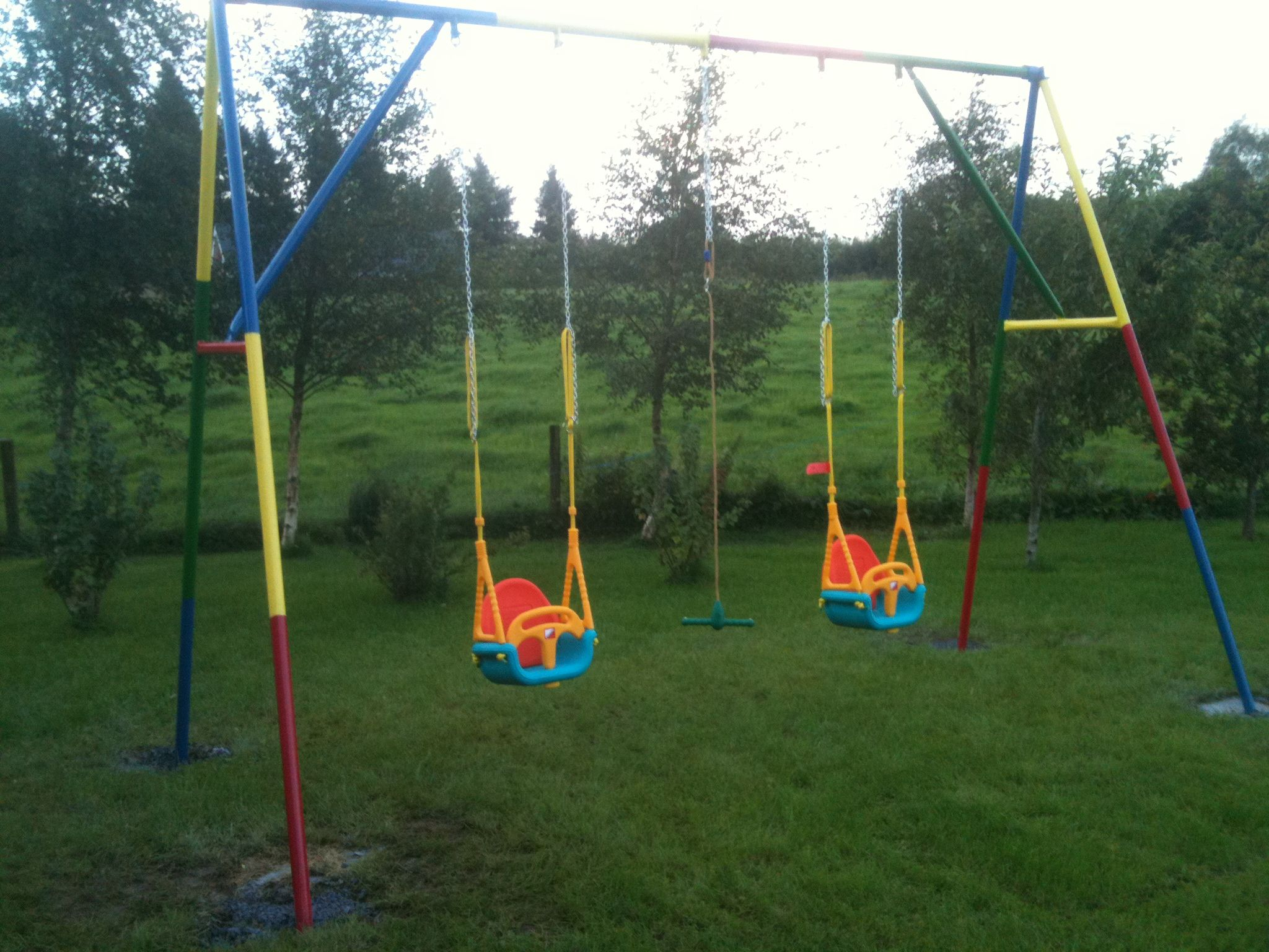 Home Made Swings For The Kids By My Talented Dad,