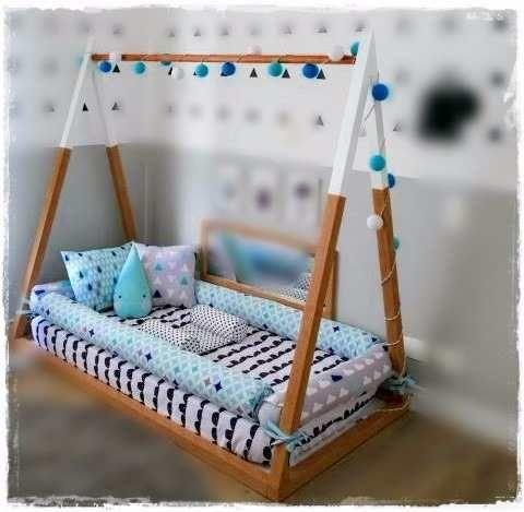 Cama casita montessori tipi estilo n rdico 90 x1 40 - Cama estilo nordico ...