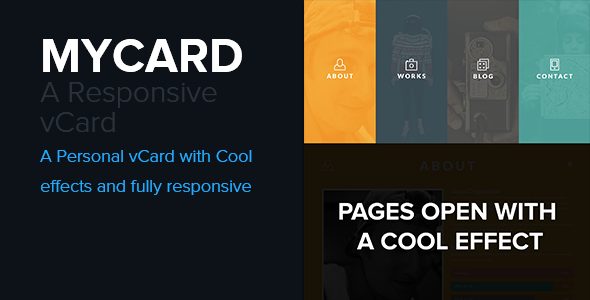 mycard responsive resume cv html5 template virtual business card personal - Resume Cv Joomla Template