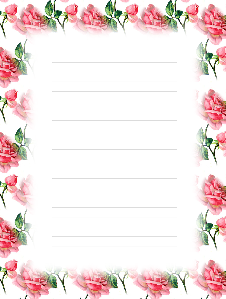 flower writing paper