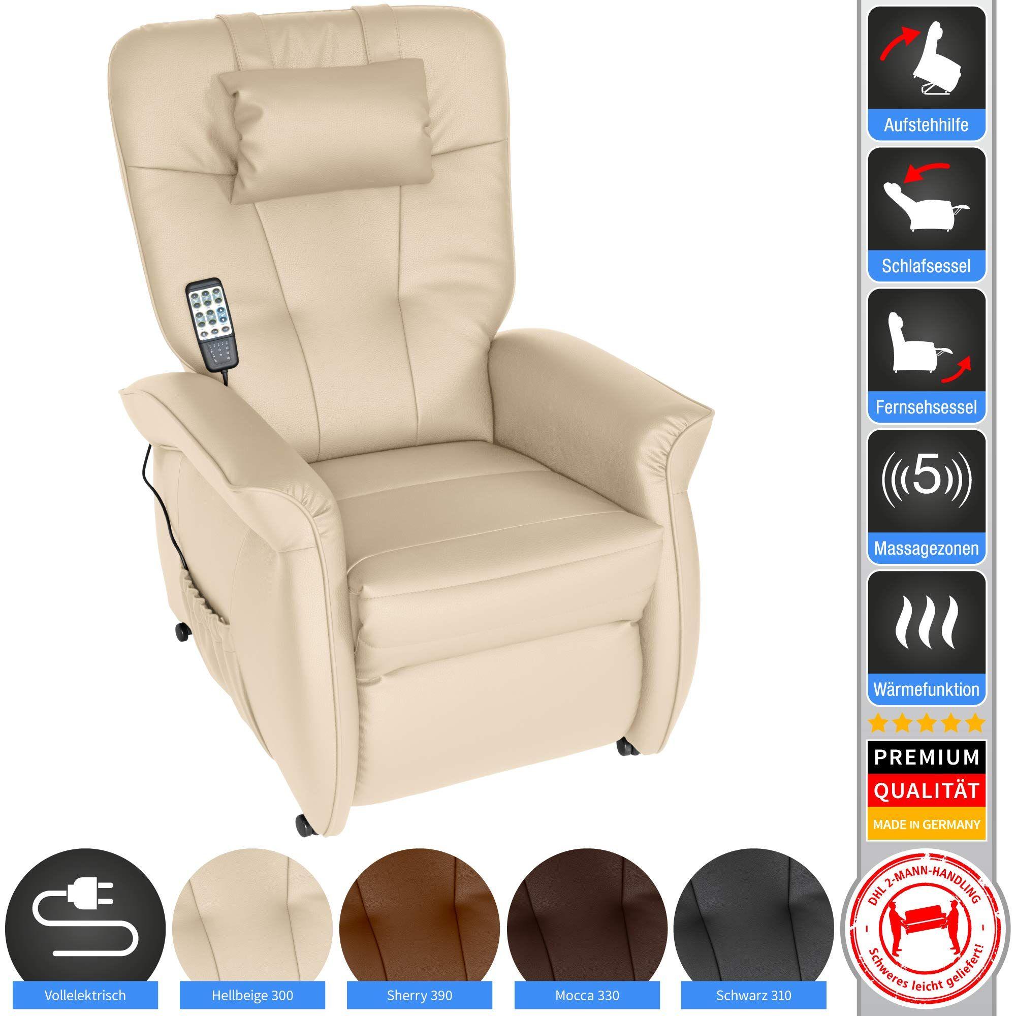 Throner Exklusiv Massagesessel Mit Elektr Aufstehhilfe 5 Zonen Massage In Hellbeige Tv Sessel Mit Liegefunktion We In 2020 Electric Massage Chair Chair