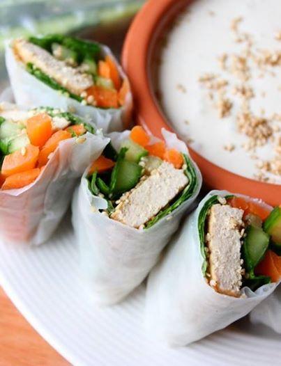 Vegan Spring Roll with Crispy Tofu http://vegan-nom.tumblr.com/