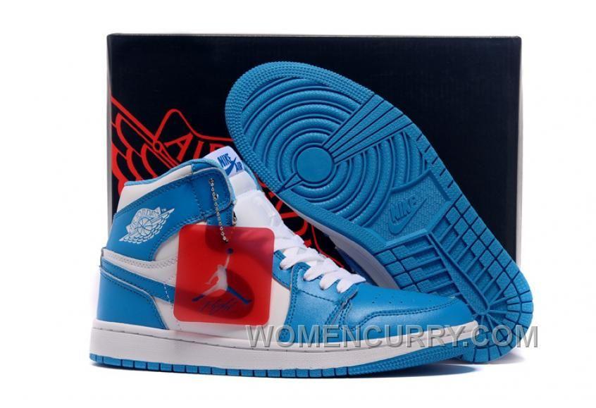 Mens Air Jordan 1 High White University Blue For Sale Lastest ... 94110a946