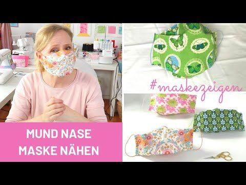 Mundmaske nähen mit Filtertasche und Draht | Gummiband (BMNS) #maskezeigen #maskeauf