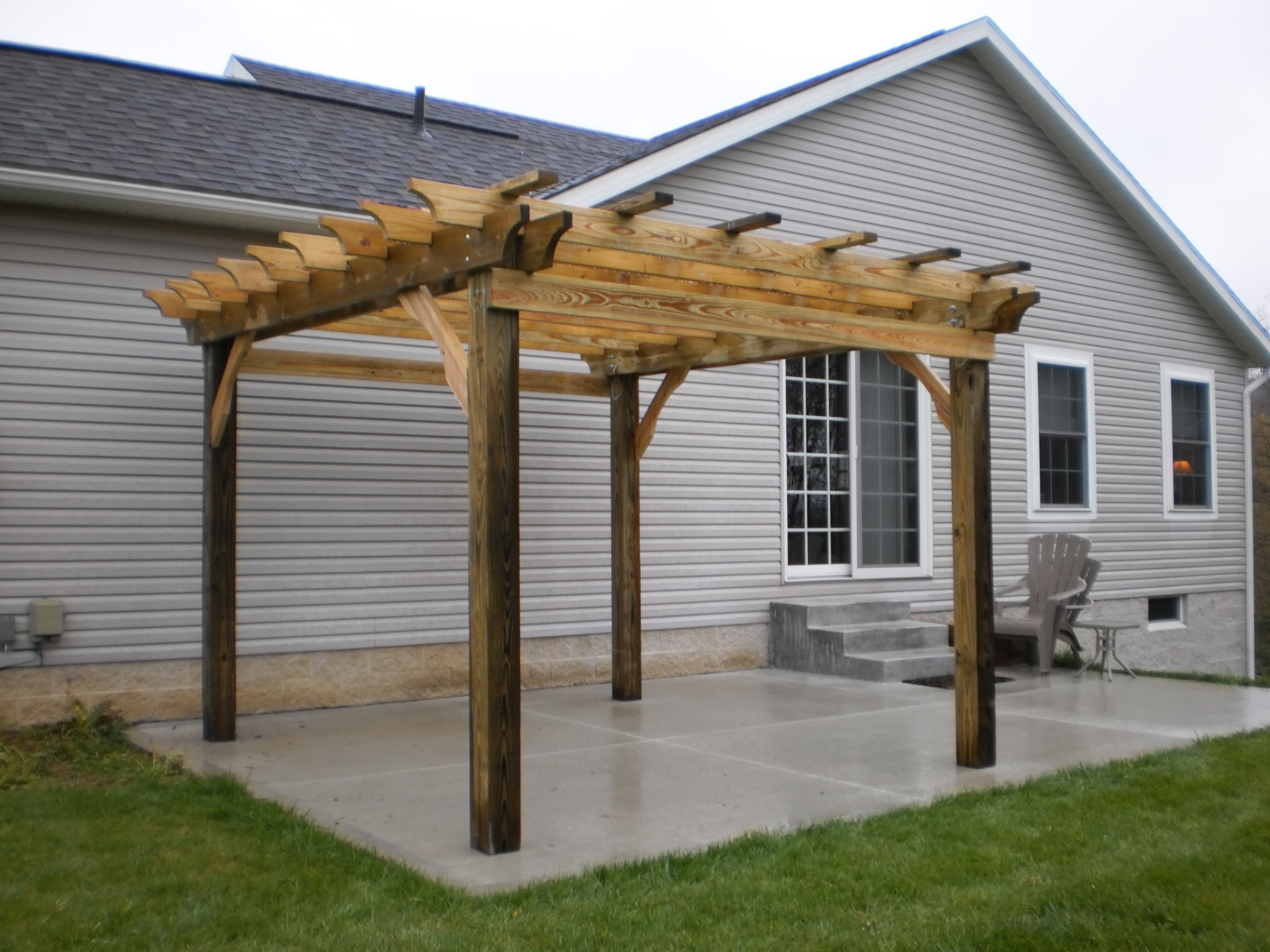 Tips To Building Your Own Beautiful Pergola | Concrete pad ...