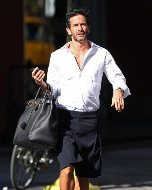 380f83dea74 YES. A MAN can and should carry a Hermes Birkin. Why not  Marc does ...