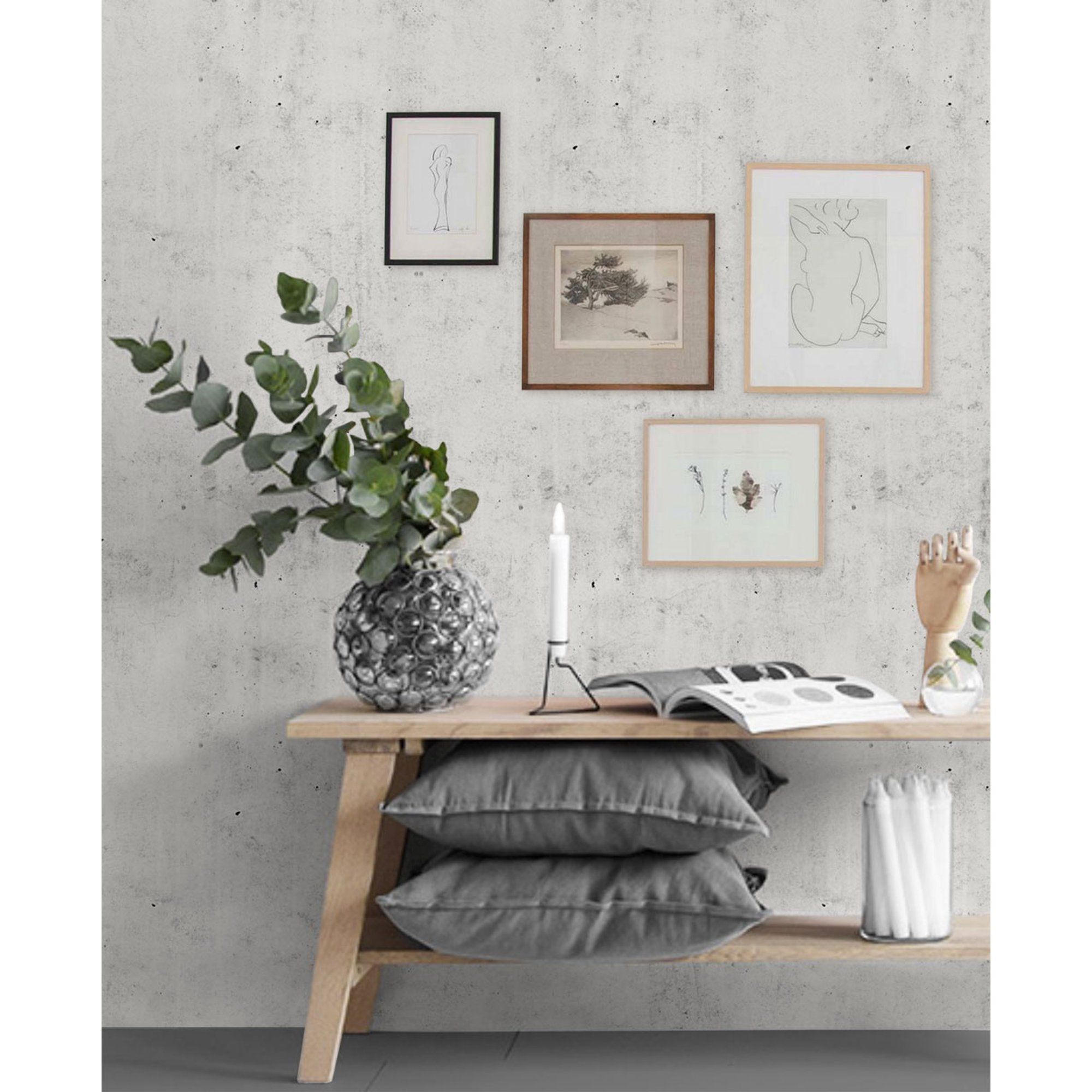Cement Peel And Stick Wallpaper Walmart Com In 2021 Wallpaper Living Room Accent Wall Concrete Wallpaper Wallpaper Living Room