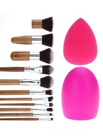 11 pcs makeup brushes set  brush egg  makeup sponge