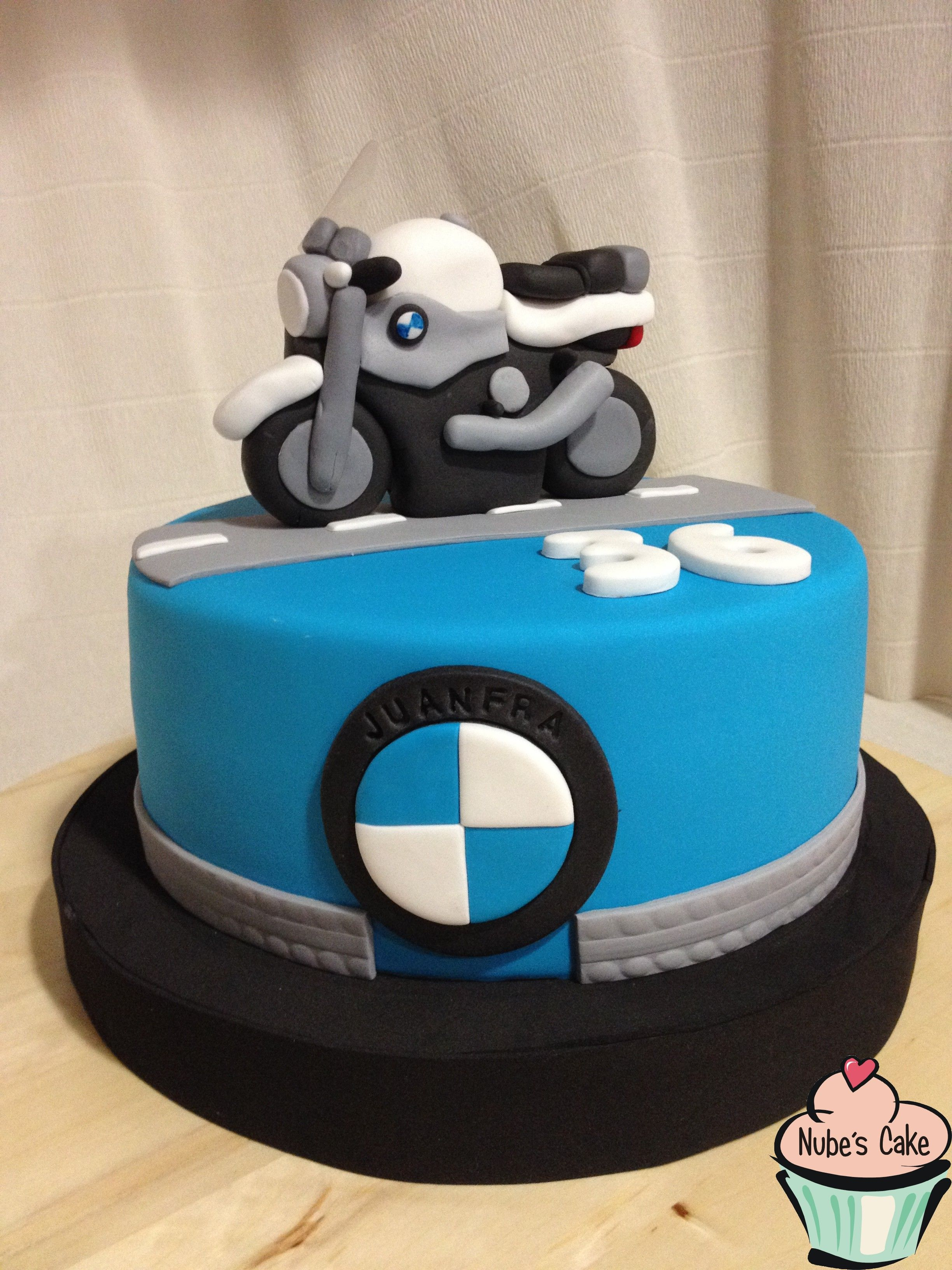 Moto Bmw Tartas Fondant Nube 180 S Cake Pinterest Bmw