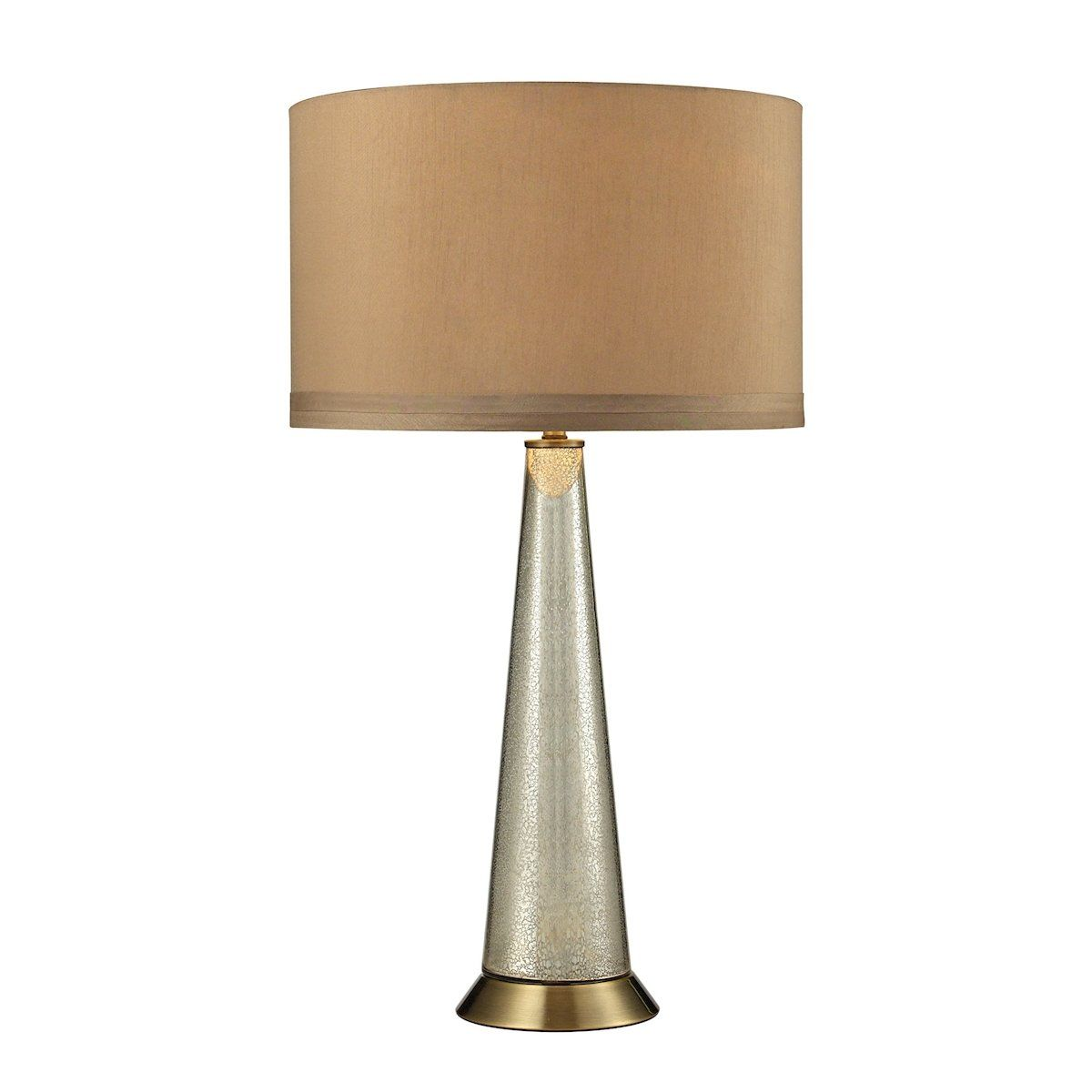 Middlebury Antique Mercury Glass Table Lamp in Aged Brass by Dimond Lighting