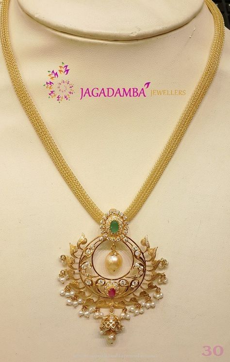 30 Grams Gold Necklace Model Gold necklaces South india and