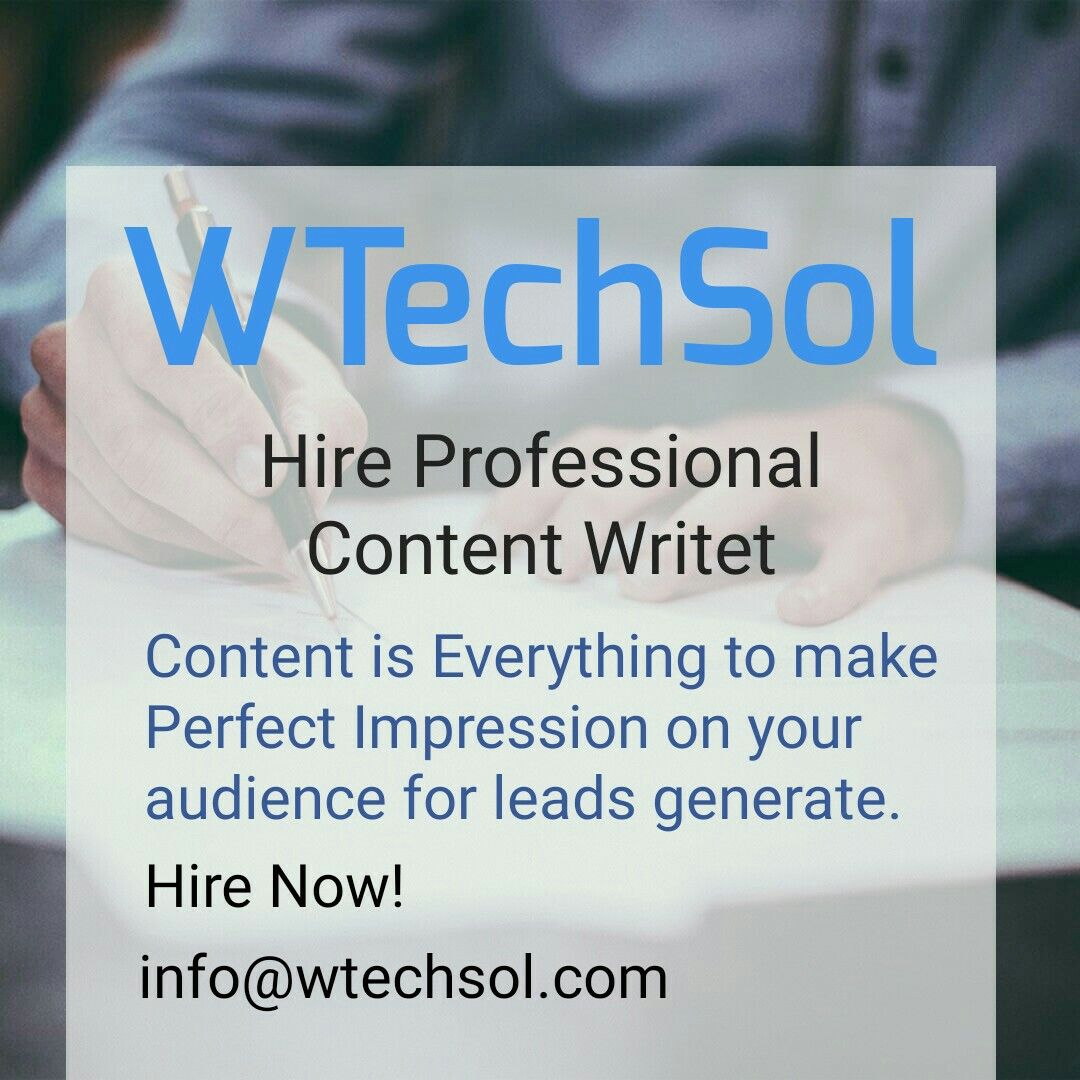 WTechSol offers professional contentcreator who deliver