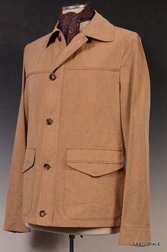 K. Punto Rosso by KITON Napoli Beige Cotton Jacket Coat EU 50 NEW US 38 40