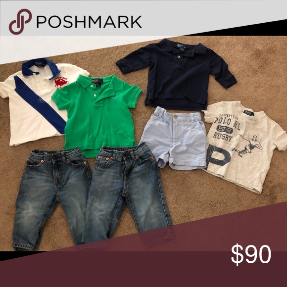 dbe9e3179 9M Boys Polo Ralph Lauren Set Great condition. 2 pairs of jeans. One pair  of shorts. One long sleeve shirt. Three short sleeve shirts.