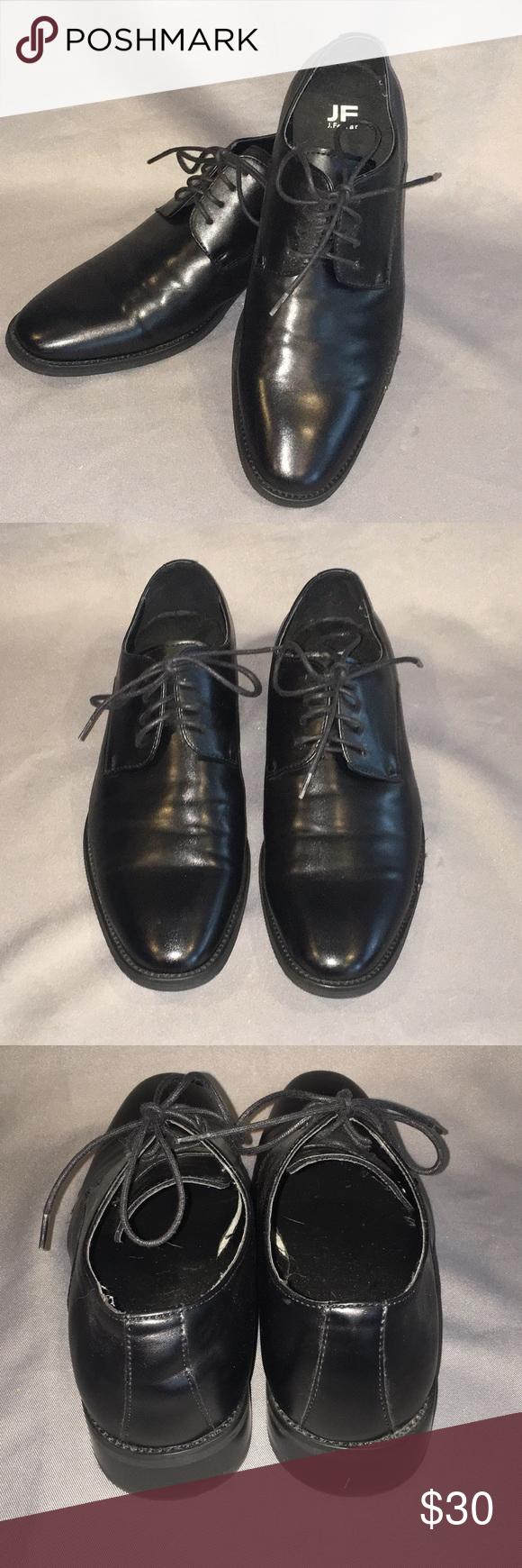 J Ferrar Black Dress Shoes W Laces Black Dress Shoes Shoes Smell Shoes [ 1740 x 580 Pixel ]