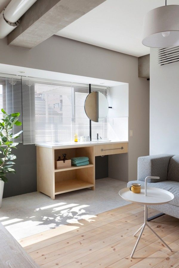 Two Apartments In Modern Minimalist Japanese Style Includes Floor Fascinating Small Apartment Building Designs Style
