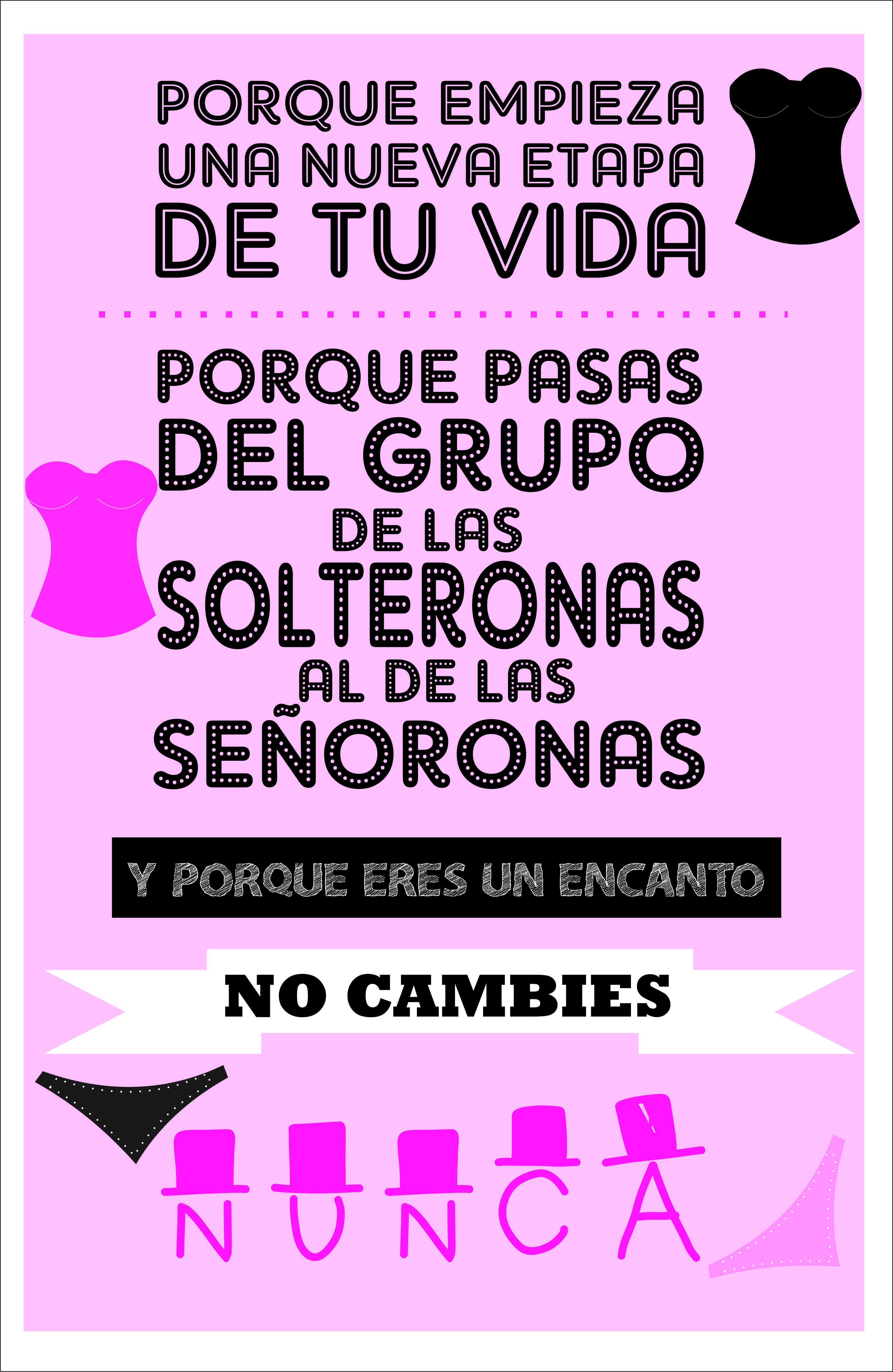 cartel despedida de soltera | Despedida de soltera | Pinterest ...