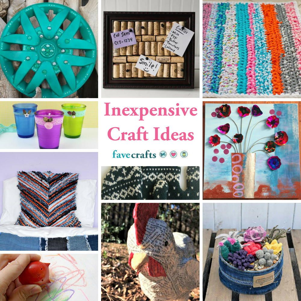 Crafting On A Budget 39 Inexpensive Craft Ideas Crafts 2