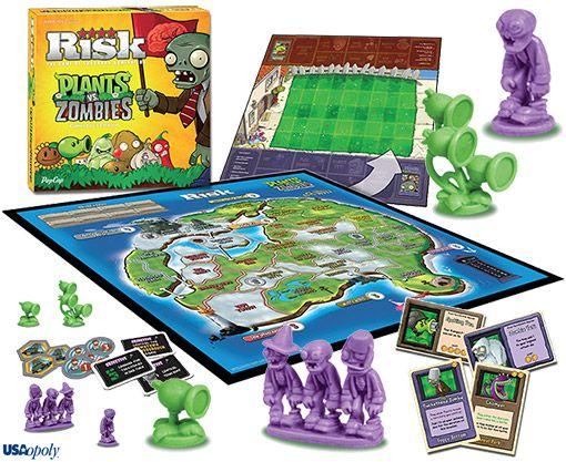 Jogo De Tabuleiro Risk War Plants Vs Zombies Zombie Board Game Plants Vs Zombies Zombie