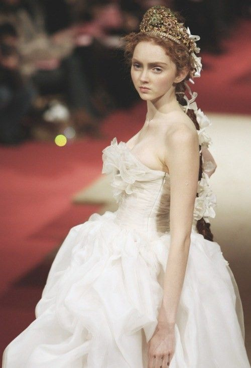 Lily Cole at Christian Lacroix Haute Couture Spring 2009