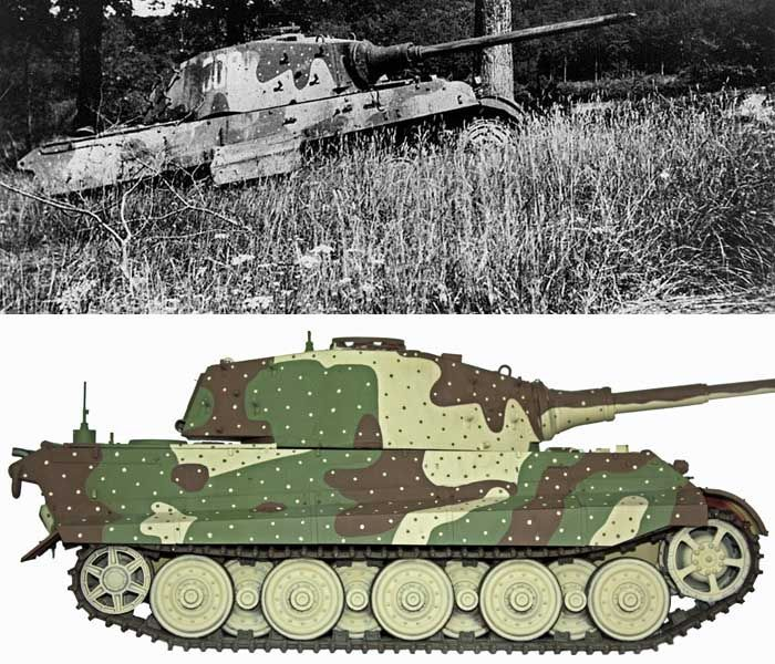 Tiger Tank Camouflage Patterns Camo Pattern For The King Tiger