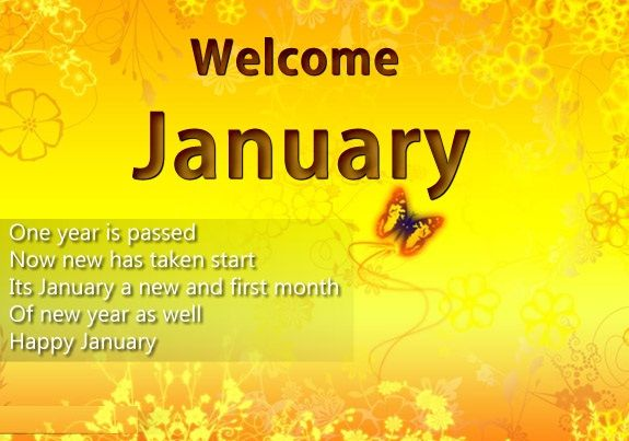 Welcome January Month Quotes New Month New Life Pinterest