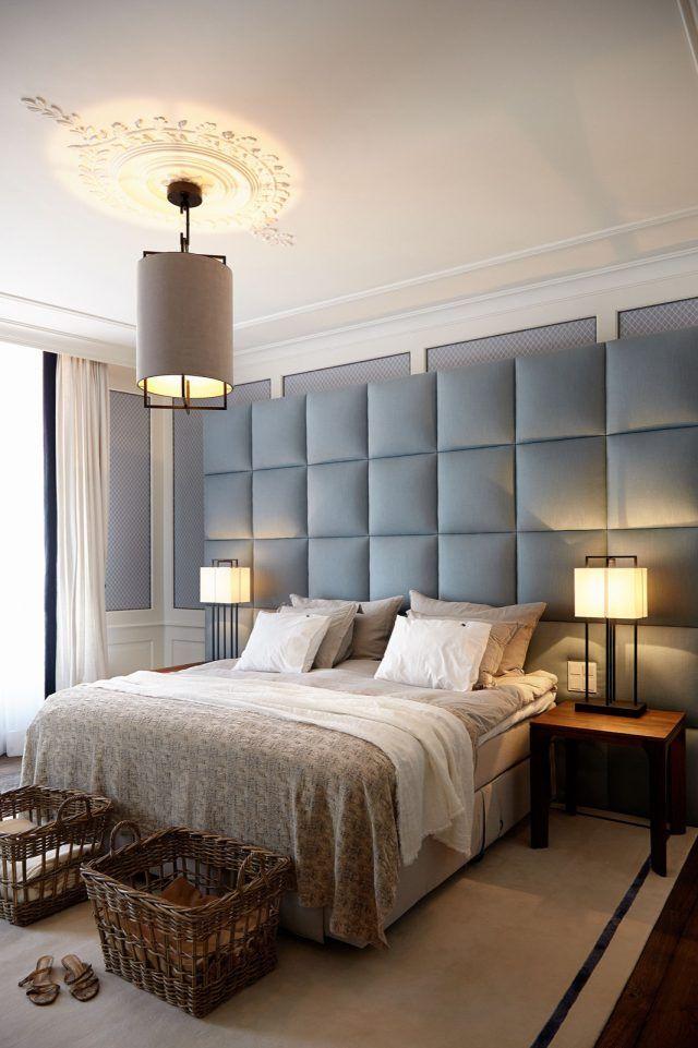 Luxe slaapkamer ontwerp met design verlichting | slaapkamer ...