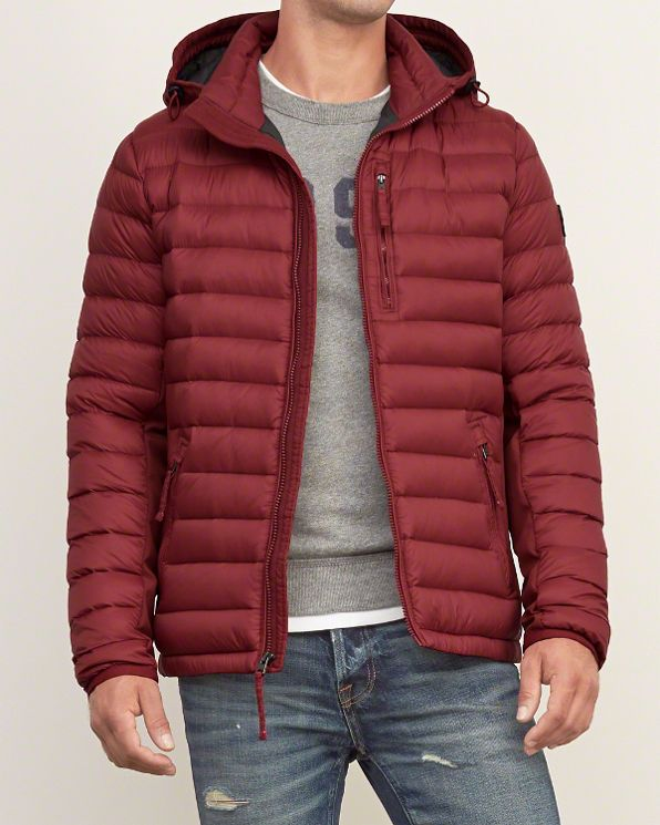 All Season Lightweight Hooded Down Jacket ABERCROMBIE FITCH