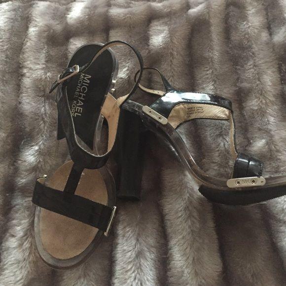 Black block heels | Michael kors heels