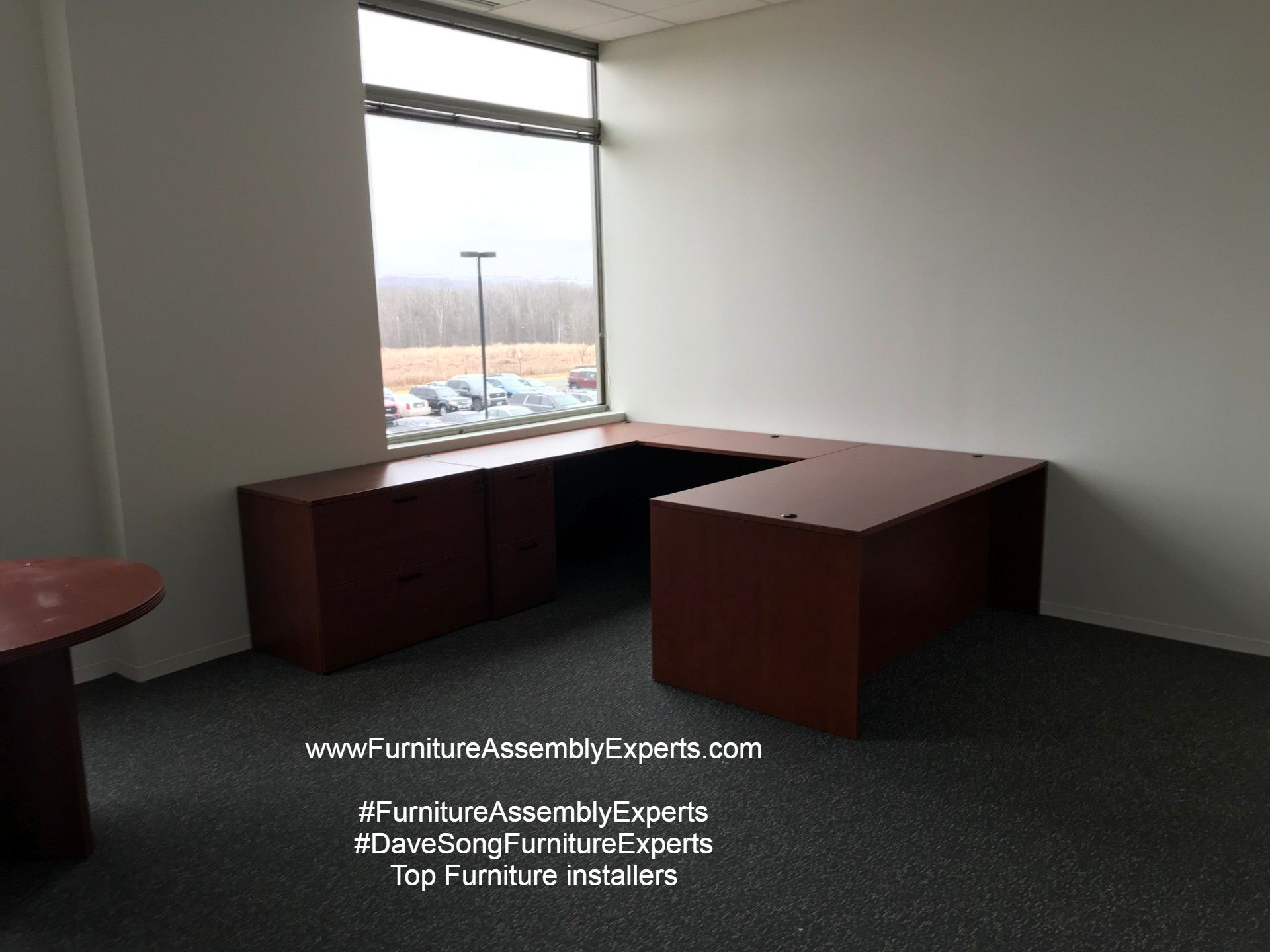Commercial office furniture installation completed in Stafford Virginia by Dave Song`s Top Furniture assembly