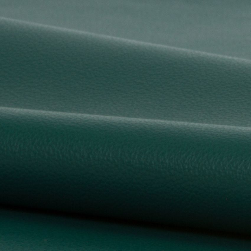 Emerald Green Leather Grain Genuine Leather Upholstery Fabric