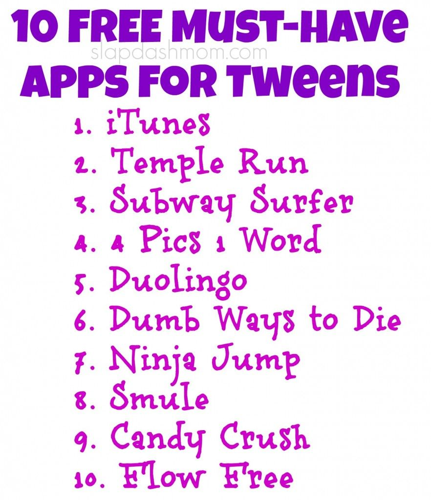 10 Free MustHave Apps for Tweens & the Best Wireless Plan
