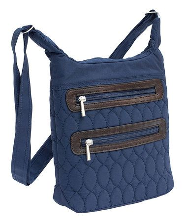 Look what I found on #zulily! Navy Blue Sidesaddle Crossbody Bag #zulilyfinds