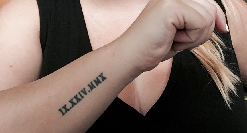 Roman Numeral Side Arm Tattoo Sidearmtattoo Sidewristtatoo