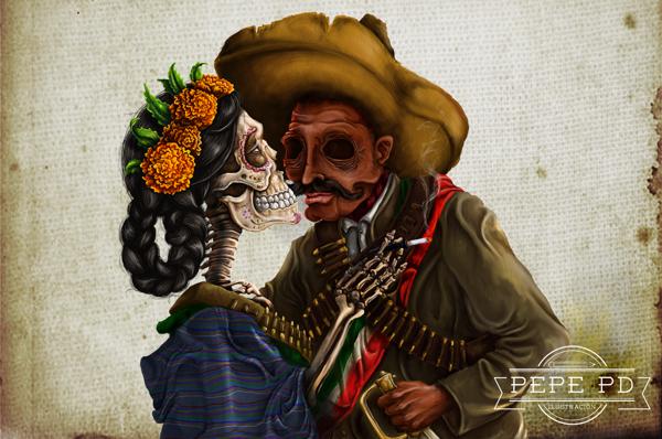 Revolución del Día de los Muertos by Pepe Pissdrunx, via Behance