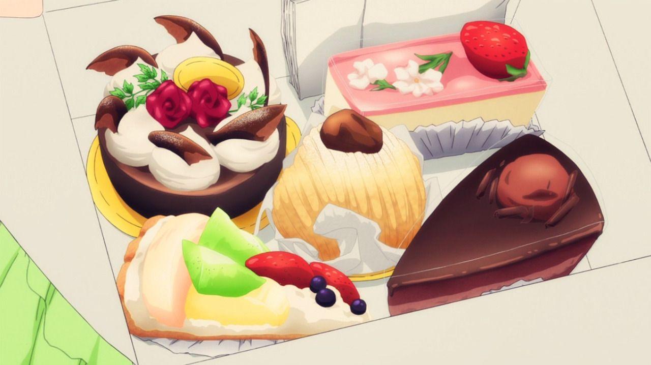 Chihaya buys desserts servant x service episode 11