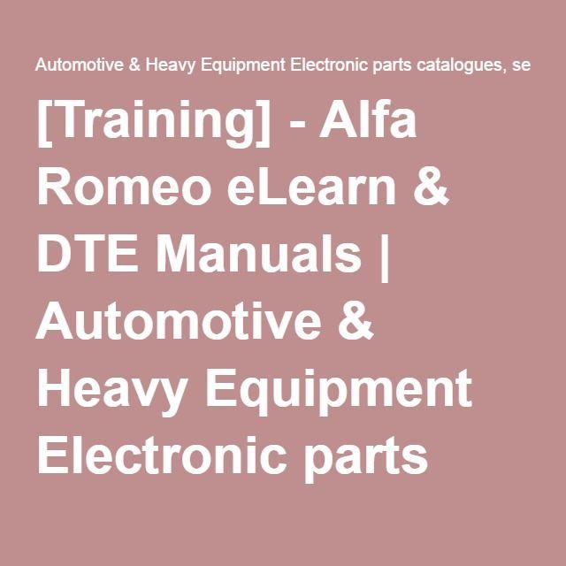 Training Alfa Romeo Elearn Dte Manuals Alfa Romeo Manual Electronic Parts