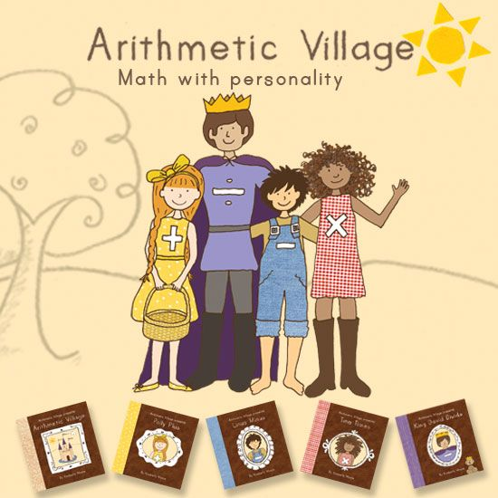 Arithmetic Village is a series of five short, rhyming books which