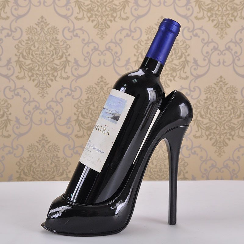 Classic High-Heeled Shoe, Bottle Wine Stand Holder