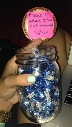 Kisses for You   DIY Valentines Gift in a Jar Ideas for Kids   Handmade Valentines Day Gifts for Him