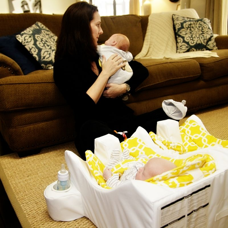 Gallery Twin Baby Feeding System Table for Two Baby